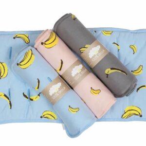 ריפודית לעגלה בננות ורוד